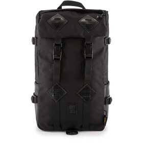 Topo Designs Klettersack Selkäreppu, ballisticblack/black leather